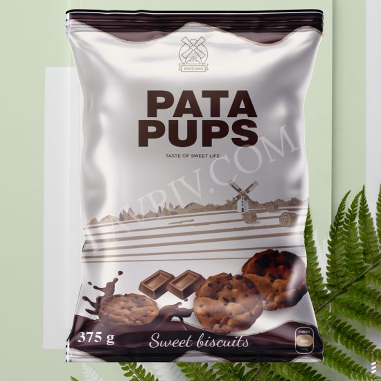 COMMERCIAL ILLUSTRATIONS DESIGN FOR PACKAGING PATA PUPS - SWEET BISCUITS FROM LAVRIV.COM